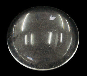 Cabochon helder glas, 14mm, 4,8mm dik