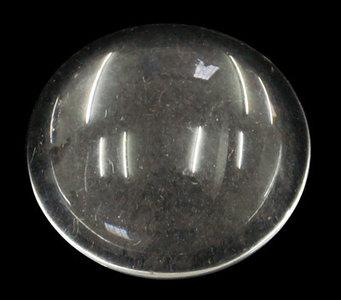 Cabochon helder glas, 25mm, 4à5mm dik plat rond