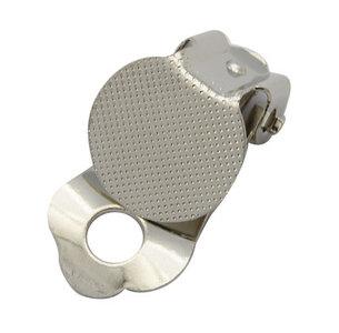 Clip oorbel 22x12mm met plakvlak 12mm - nikkelkleur