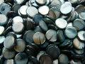 Schelpkraal-rond-10mm-grijsblauw