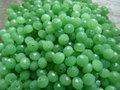Glas-kristal-rondel-facet-met-mooie-glans-mat-6x4mm-groen