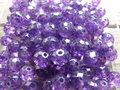Glas-kristal-rondel-facet-met-mooie-glans-geverfd-8x6mm-paars