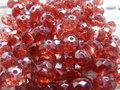 Glas-kristal-rondel-facet-met-mooie-glans-geverfd-8x6mm-rood