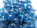 Glas-kristal-rondel-facet-met-mooie-glans-geverfd-8x6mm-blauw