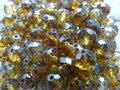 Glas-kristal-rondel-facet-met-mooie-glans-geverfd-8x6mm-oker