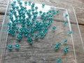 Glaskraal-rondel-facet-geslepen-3x2mm-turkoois