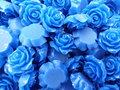 Resin-roosje-20x9mm-donkerblauw