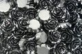 Resin-roosje-20x9mm-zwart